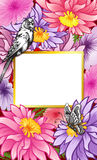 Flower background, floral wedding invitation Stock Photos