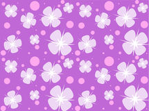 Flower background. Flowers and bubbles at a purple background, seamless pattern Stock Images