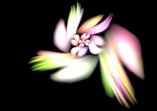 Flower background (fractal) Stock Photo