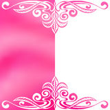 Flower background frame pink white abstract illustration Royalty Free Stock Photos