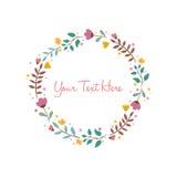 Flower Background Frame Vector Illustration Design Template Royalty Free Stock Photos