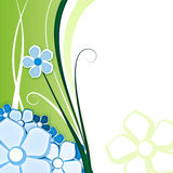 Flower for background green. Abstract background with flowers on green with space for text Stock Photo