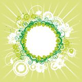 Flower background, green Royalty Free Stock Image