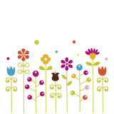 Flower background. illustration Royalty Free Stock Images