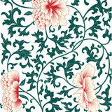 Flower Background In Chinese Style. Stock Photos