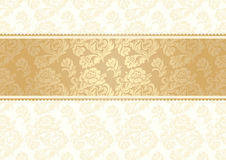 Flower background with lace, seamless, gold Royalty Free Stock Images