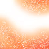 Flower background orange red white rose frame abstract illustration Royalty Free Stock Photography