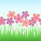Flower background pattern. Stock Photo