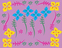 Flower background patterned Royalty Free Stock Images