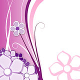 Flower for background pink. Abstract background with flowers on pink with space for text Stock Photography