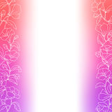 Flower background pink violet red white frame abstract illustration Royalty Free Stock Photography
