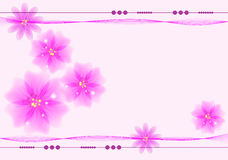 Flower background with place for text Stock Photography