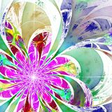 Flower background. Purple and green palette. Fractal design. Com Royalty Free Stock Photography