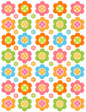 Flower background. Red green pink blue Stock Photos