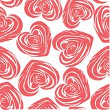 Flower background with rose like heart. Royalty Free Stock Image
