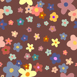 Flower Background seamless floral pattern Stock Image