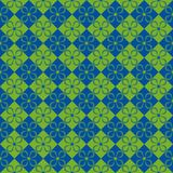 Flower background. Flower seamless pattern for fabric print, wallpaper, background, Color green and blue Royalty Free Stock Photography