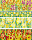 Flower background set. Vector illustration of flower background ser Royalty Free Stock Images