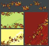 Flower background set. Illustration for use in design Royalty Free Stock Photo