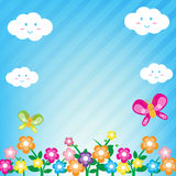 Flower background 001 Stock Photos
