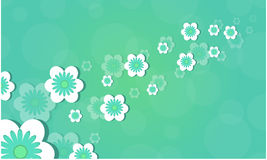 Flower background for spring theme. Vector illustration Royalty Free Stock Image