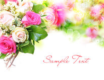 Flower background with structure Royalty Free Stock Images