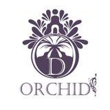 Flower Background Template.  Lotus symbol. Logo Stock Image