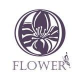Flower Background Template.  Lotus symbol. Logo Stock Photography