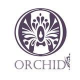 Flower Background Template.  Lotus symbol. Logo Stock Photo