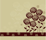 Flower background in vector. Elements of design seamless backgrounds, plants and flowers Stock Photos
