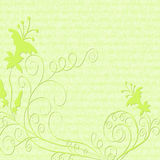 Flower background. Vector flower green background with flowers Royalty Free Stock Photography
