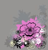 Flower background. Vector illustration Royalty Free Stock Photography