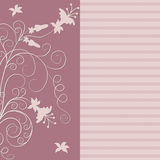 Flower background. Vector flower background in pink colors Royalty Free Stock Image
