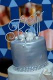 Flower background  wedding cake Stock Photography