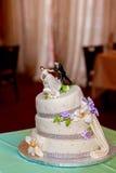 Flower background  wedding cake Stock Images