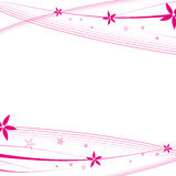 Flower background. White - a pink flower abstract cover vector illustration