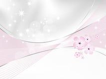 Flower background - white and pink floral design stock illustration