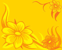 Flower background yellow orange - vector Royalty Free Stock Photography
