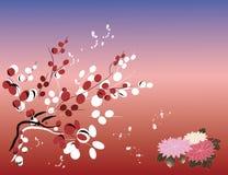 Flower backround. Flower background on Japanese theme Stock Photos