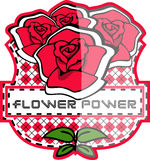 Flower badge Stock Image