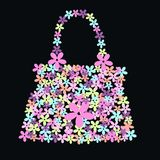 Flower bag. In different nice colours Stock Image