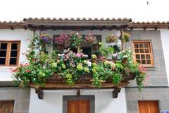Flower balcony Stock Photos