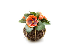 Flower with ball. Flower jewelry on bound wood ball Royalty Free Stock Photos