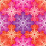 Flower ball effect seamless pattern Royalty Free Stock Photography