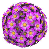Flower Ball Pink Floral Sphere Pattern Background Royalty Free Stock Images