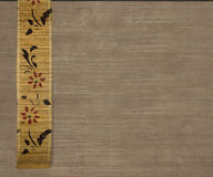 Flower bamboo banner on light brown background royalty free stock photography