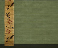 Flower bamboo banner on olive background Royalty Free Stock Images