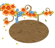 Flower and banner Stock Images