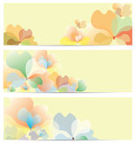 Flower Banner Background Set Stock Images