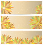 Flower Banner Background Royalty Free Stock Photography